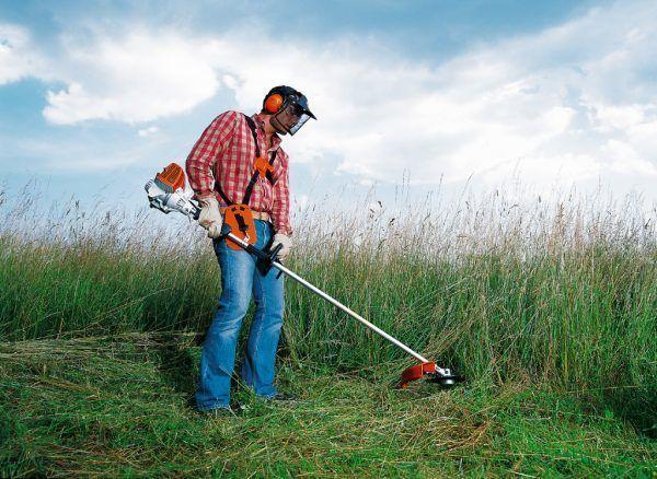 Stihl FS 55 R Benzine Graskantenmaaier met Maaikop 2