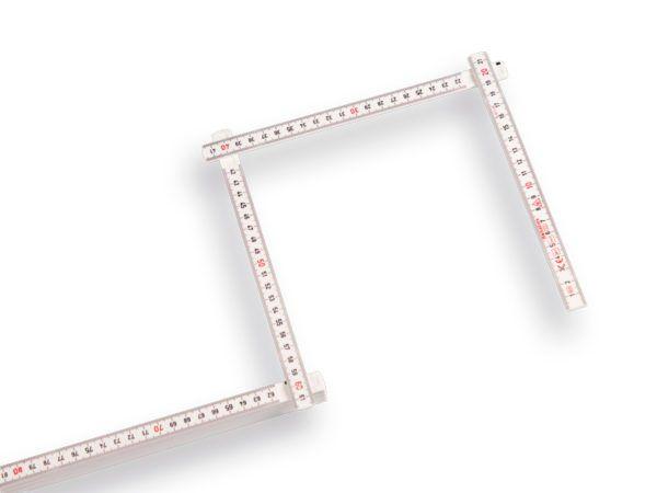 Hultafors Duimstok 2 meter glasfiber wit 3