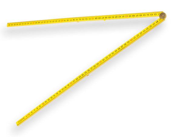Duimstok 1 meter glasfiber Geel 3