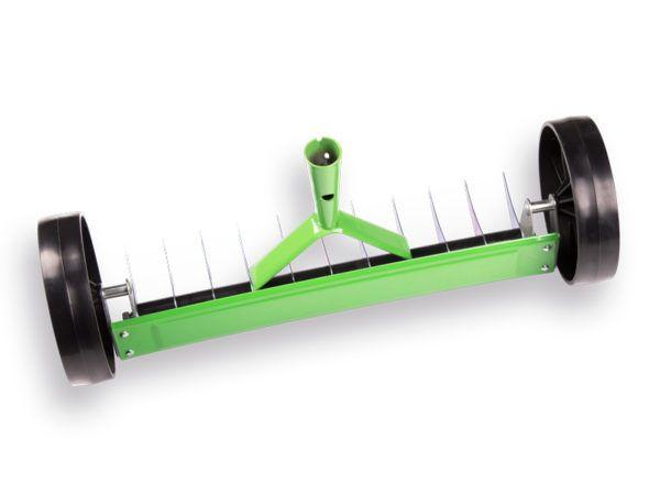 Atlas Verticuteerhark 11 tands met wielen / steel 150 cm 2
