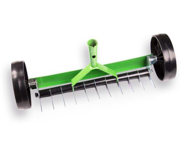 Atlas Verticuteerhark 11 tands met wielen / steel 150 cm 1
