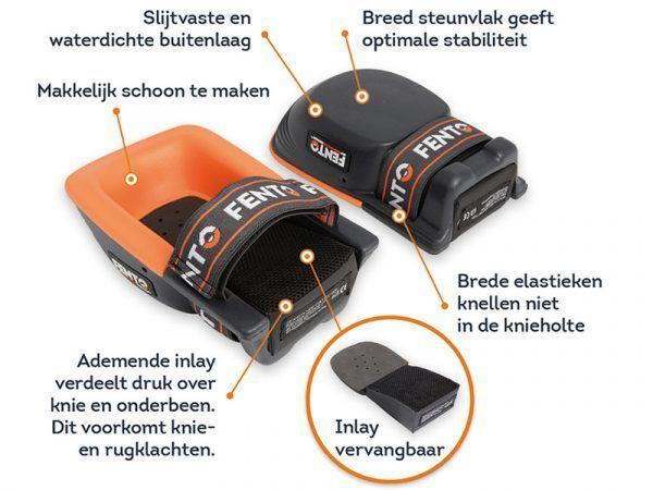 Fento Elastieken met Clip voor Kniebeschermers 200 / 200 PRO 2